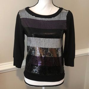 NWOT Express sequined sweater